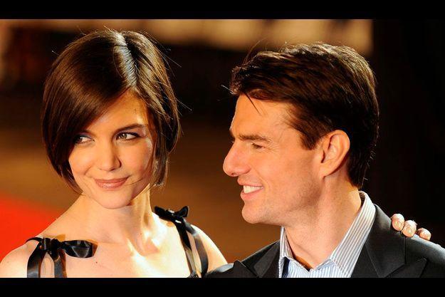 Tom Cruise et Katie Holmes à la première londonienne du film Valkyrie en janvier 2009.