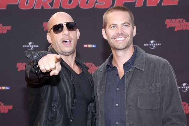"""Vin Diesel et Paul Walker à la première de """"Fast & Furious 5"""" en 2011"""