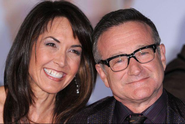 Robin Williams et Susan Schneider en 2009.
