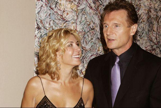 Liam Neeson et Natasha, son épouse, en 2005.