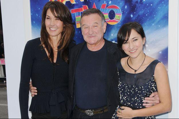 Robin Williams en novembre 2011. Ici aux côtés de sa femme Susan (à g.) et de sa fille Zelda (à d.)