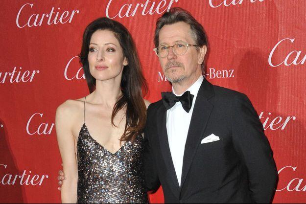Gary Oldman et son épouse lors de leur dernière apparition publique, ici au Festival de Palm Springs le 4 janvier