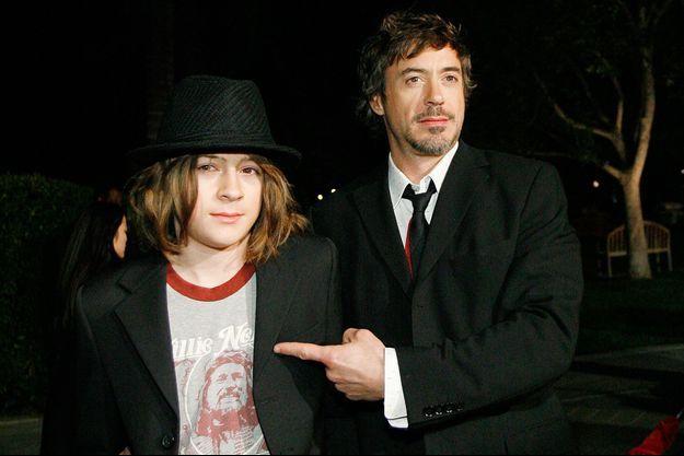 Robert Downey Jr. et son fils Indio en 2007.