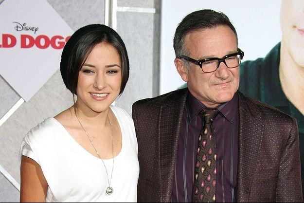 Robin Williams et sa fille Zelda en novembre 2009