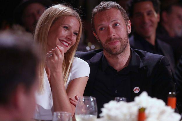 Gwyneth Paltrow et Chris Martin pour leur dernière apparition publique, lors d'une soirée de charité organisée par Sean Penn le 11 janvier dernier.