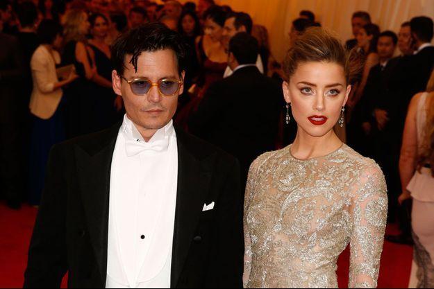 Johnny Depp et Amber Heard, à New York en mai 2014.
