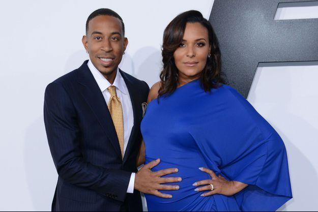 Ludacris aux côtés de son épouse, Eudoxie, le 1er avril dernier à Los Angeles.