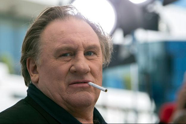 """Gérard Depardieu au 68ème Festival de Cannes pour représenter le film """"Valley of Love"""", le 22 mai 2015."""