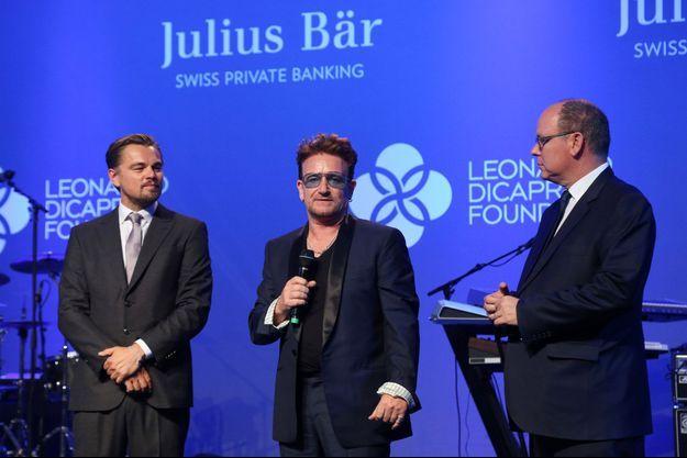 Leonardo DiCaprio, Bono et le prince Albert II de Monaco.