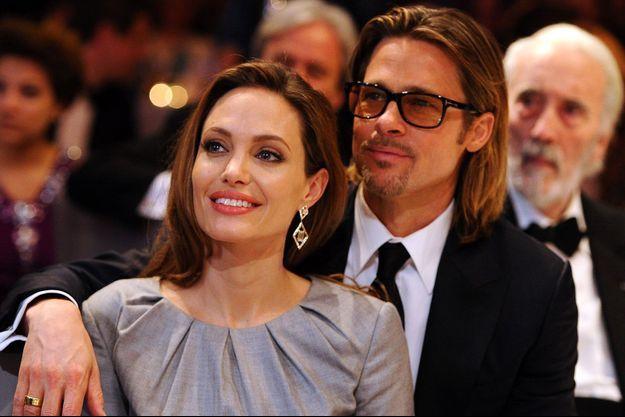 Brad Pitt et Angelina Jolie en 2012.