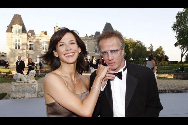Le 25 juin 2009, à la Fête de la fleur, au château d'Issan à Margaux, Sophie Marceau et Christophe Lambert, propriétaire dans les côtes du Rhône et dans le Médoc.
