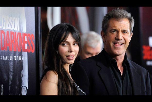 """Mel Gibson et Oksana Grigorieva, à la première du film """"Hors de contrôle"""" en janvier dernier"""
