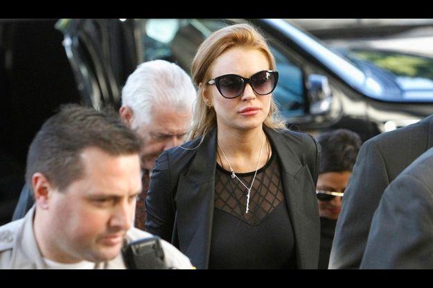 Lindsay Lohan, à son arrivée au tribunal de Los Angeles