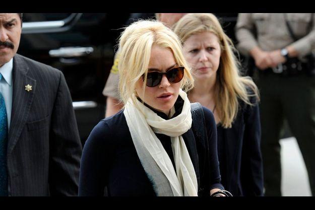 Lindsay Lohan, à son arrivée vendredi au tribunal de Los Angeles