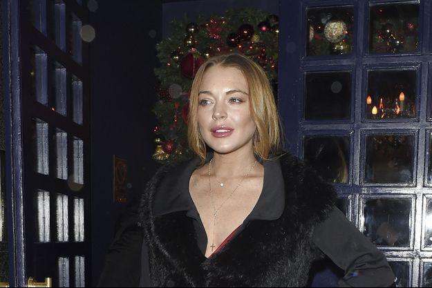 Lindsay Lohan à Londres le 9 décembre dernier