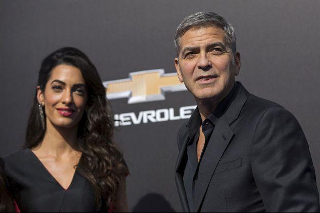 Amal et George Clooney à Los Angeles le 9 mai dernier.