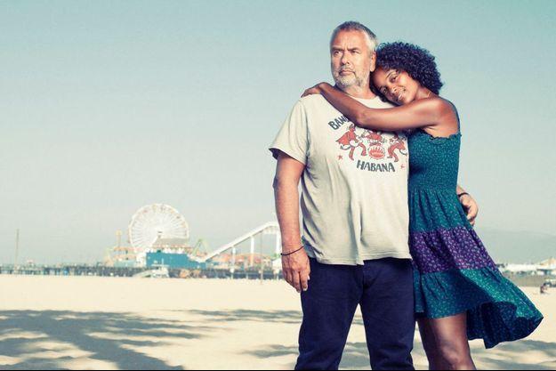 A Los Angeles, devant la grande roue de Santa Monica avec Virginie Besson-Silla, vendredi 25 juillet, jour de sortie de « Lucy ». En France, le film est en salle depuis le 6 août.