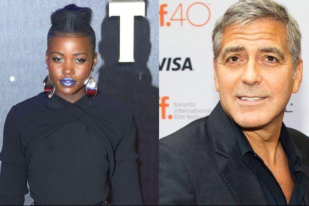 Lupita Nyong'o & George Clooney