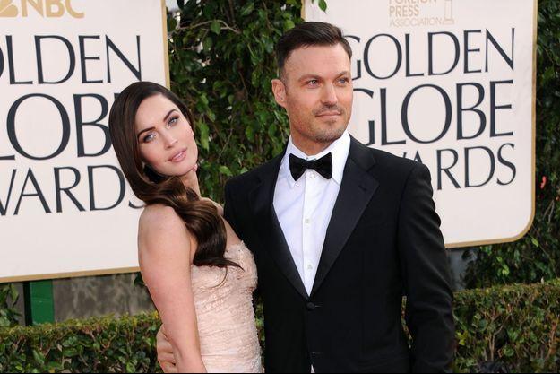 Megan Fox et Brian Austin Green aux Golden Globes 2013.