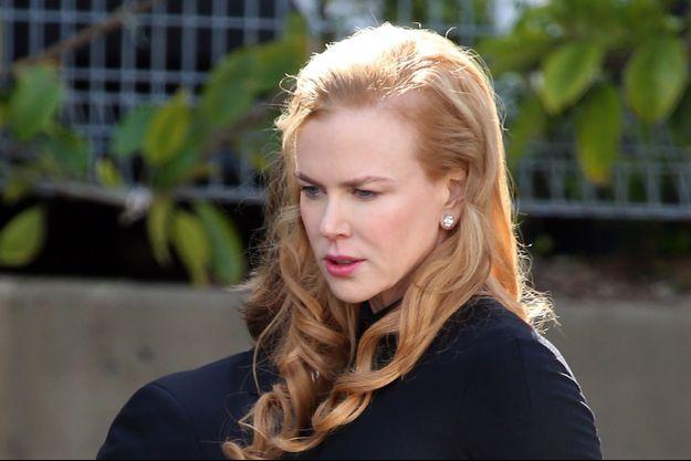 Nicole Kidman aux obsèques de son père à Sydney le 19 septembre 2014