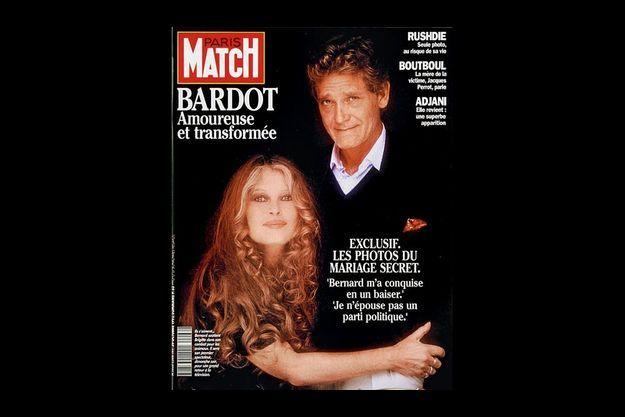 Brigitte Bardot et Bernard d'Ormale en couv de Match.
