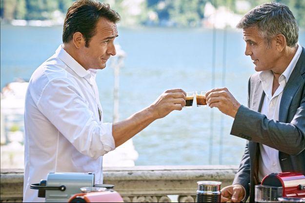 George Clooney a choisi Jean Dujardin pour partager un Nespresso dans sa nouvelle publicité tournée en août 2014