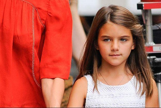 Katie Holmes et sa fille Suri Cruise, le 24 aout 2015