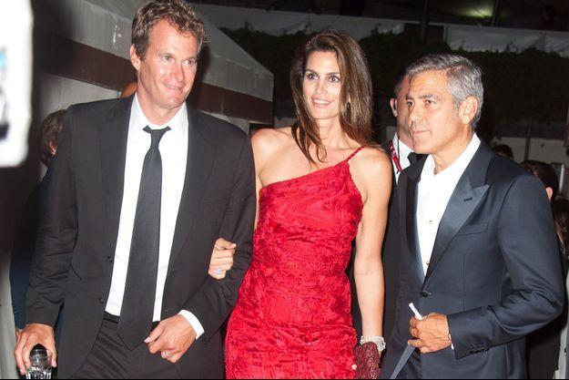 Rande Gerber, Cindy Crawford et George Clooney en 2011