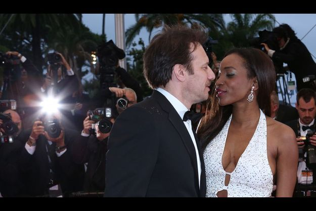 Samuel Le Bihan et sa compagne Daniela lors du dernier Festival de Cannes.