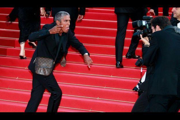 Lors de la projection de «La Source des femmes», l'acteur semblait agressif envers les photographes