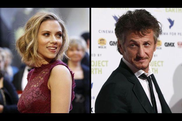 Scarlett Johansson et Sean Penn.