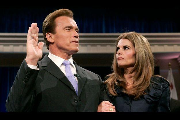 Arnold Schwarzenegger et Maria Shriver en 2007.