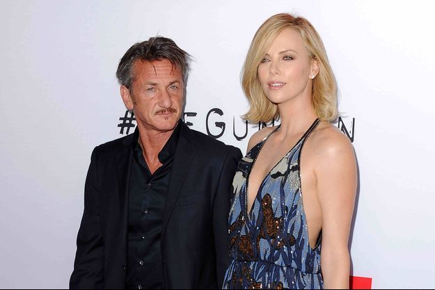 Sean Penn et Charlize Theron à Los Angeles le 12 mars 2015.
