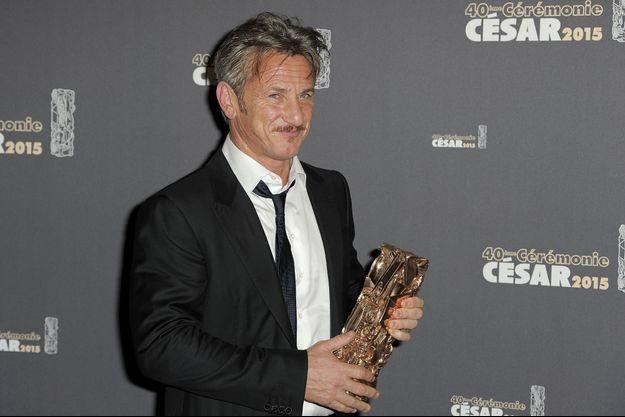 Sean Penn à la cérémonie des César 2015, le 20 février dernier à Paris