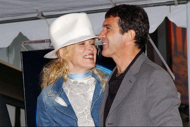 Sharon Stone et Antonio Banderas en 2005.