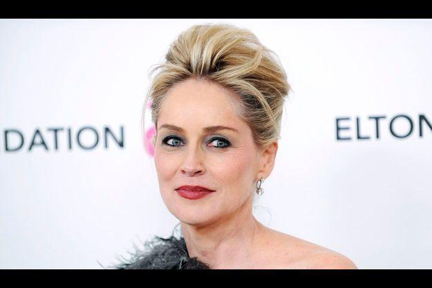 Sharon Stone au gala AIDS organisé par Elton John en 2011.