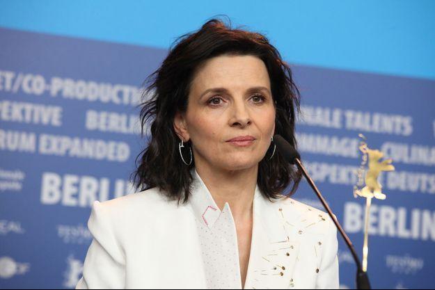 Juliette Binoche au Festival de Berlin le 8 février dernier