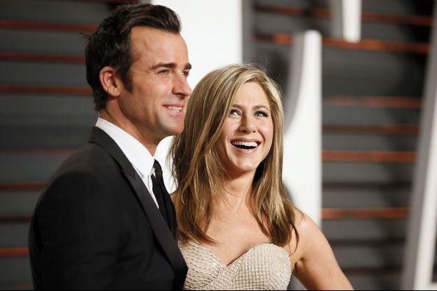 Justin Theroux et Jennifer Aniston aux Oscars 2015.