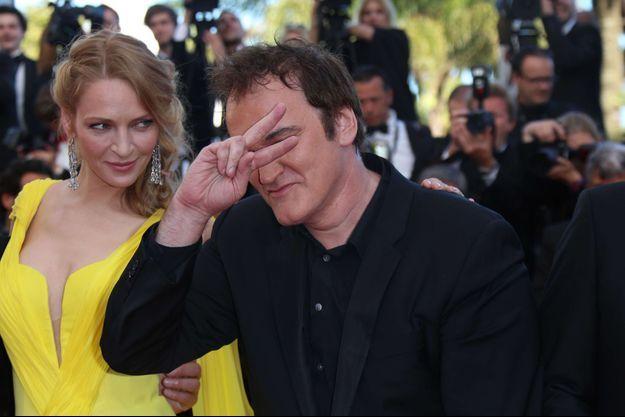 Uma Thurman et Quentin Tarantino le 23 mai dernier, au Festival de Cannes.