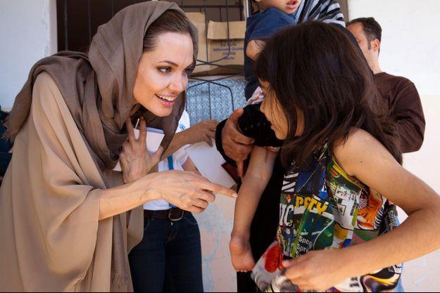 Angelina Jolie au Liban, l'année dernière.