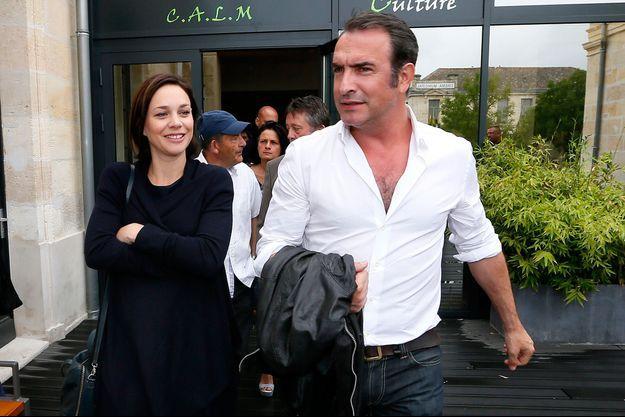 Jean Dujardin et Nathalie Péchalat en juin dernier.