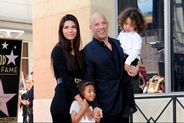 La famille au grand complet pour l'étoile de Vin Diesel sur le Hollywood Walk of Fame le 26 août 2013