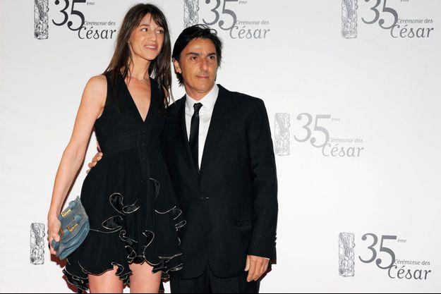 Yvan Attal et Charlotte Gainsbourg à la 35ème cérémonie des Césars, en 2010