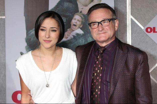Zelda et Robin Williams, à Los Angeles en novembre 2009