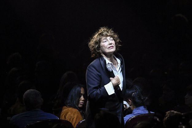 Jane Birkin en concert en septembre 2018 à Paris.