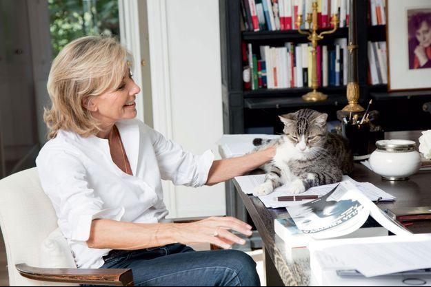 Claire Chazal et Filou son chat