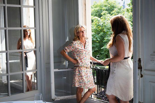 Claire Chazal avec Marlène Schiappa, après leur long entretien pour Paris Match.