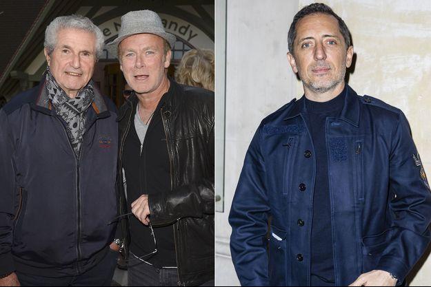 Claude Lelouch, Franck Dubosc et Gad Elmaleh