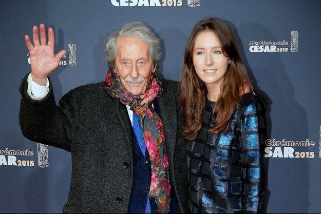 Jean Rochefort et sa fille Clémence en 2015
