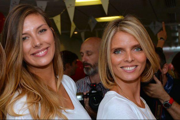 Camille Cerf et Sylvie Tellier en septembre 2017